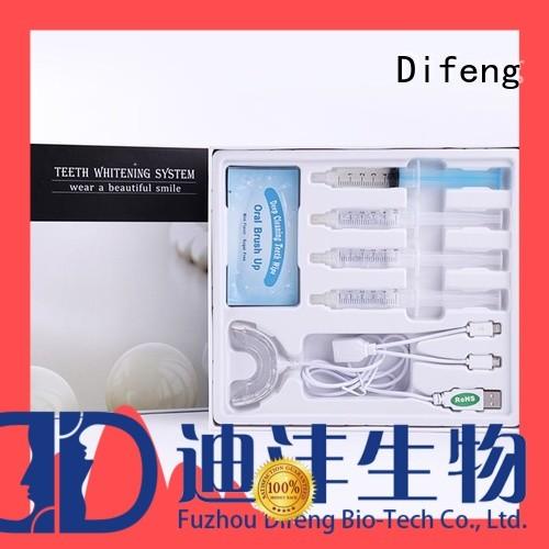 Difeng white teeth whitening kit factory teeth